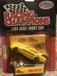 1996 Racing Champions 1/64 Scale NHRA Mooneyes Funny Car Kenji Okasaki, Jim Dunn