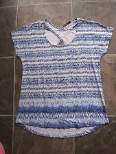 BNWNT Women's Just Jeans Blue & White Stretch Viscose Knit Top Size XS