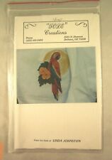 Parrot In Paradise - Paint on Fabric Pattern - Tole Creations