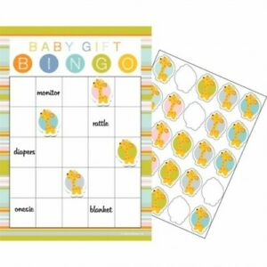 "Happy Jungle Gift Bingo 10 Pack 8.5"" x 6"" Paper Bingo Baby Shower Games"