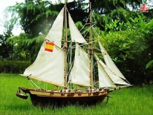 "Halcon 1840 Scale 1/48 750mm 30"" Wood Model Ship Kit"