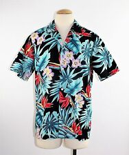 Vintage 80's Men's CASUAL WEAR Aloha Floral Hawaii Shirt Made in Hawaii - Size M