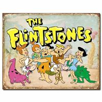 The Flintstones Family Classic Cartoon Weathered Retro Decor Metal Tin Sign New
