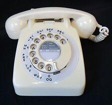 Vintage Retro 1960s Blanco Crema Gpo 706 Dial teléfono convertido de trabajo