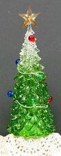 """Colorful Acrylic Christmas Tree LED Lights Holiday Seasonal Decor 3.25 x 9.25"""""""