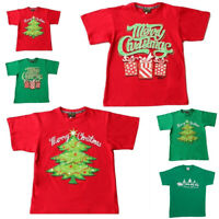 Adult Mens Womens Christmas Xmas T Shirt Unisex Tee 100% Cotton Red Green NEW B