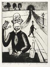 HERMANN NAUMANN - BERICHT FÜR EINE AKADEMIE (KAFKA) - Radierung 1956