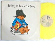 PADDINGTON BEAR'S GOLD RECORD 1984 Yellow Vinyl LP – Childrens Story ATXLP07