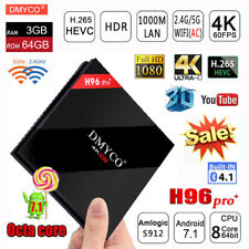 3GB/64GB Android 7.1 OS H96 Pro Plus Smart TV Box Amlogic S912 Octa Core 5G WIFI