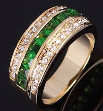 Jewelry Size 10 Womens Luxury Emerald Nobby 10KT Gold Filled Wedding AAA Rings