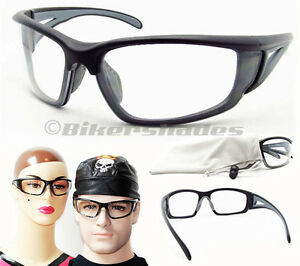 Clear Lens Ansi Z87 Safety Wrap Glasses Motorcycle Cycling Target Racket Ball