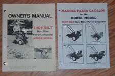 TROY-BILT SERIES 1 HORSE OWNERS & PARTS  MANUALS