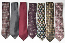 Lot of 7 Men's Ties: Tommy Hilfiger, Geoffrey Bee, Gergio Armani, Countess Mara