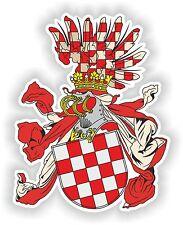 STEMMA adesivo di croato CROWN LAND PARAURTI Croazia Casco Decalcomania Auto Barca