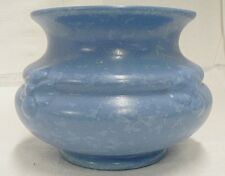RUM RILL POTTERY BLUE STIPPLE VASE NUMBER 321