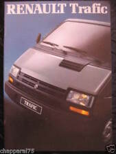 CATALOGUE RENAULT TRAFIC  30 pages avril 1989
