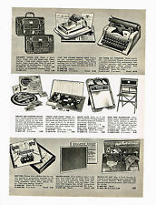 "1955 AD TOM THUMB TOY TYPEWRITER, ""ACE"" PRINTING PRESS, QUIZ KIDS, EASY MONEY"