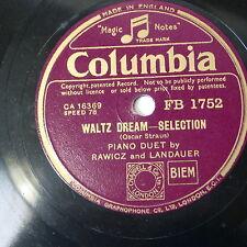 78rpm RAWICZ & LANDAUER waltz dream selection / lilt of lehar medley