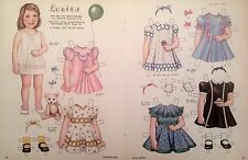 Vintage Pat Stall Louisa & her Ice Cream Dresses from 1938 Paper Doll Uncut,1985