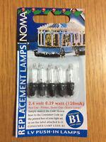 5x Noma B1 Spare Christmas Fairy Light Bulbs, Clear Lamps, 2.4v 0.29w 120ma
