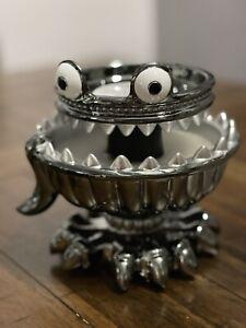Bath & Body Works Halloween 2021 Creepy Monster Light Up 3 Wick Candle Holder
