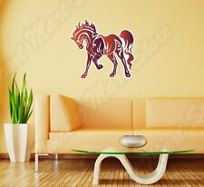 "Horse Tribal Mustang Red Wall Sticker Room Interior Decor 25""X20"""