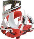Technine Niner Snowboard Bindings Medium (US 6-9) White/Red/Brown Single Scrub