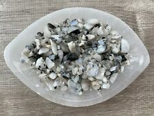 Moonstone Rainbow Semi Tumbled Gemstone Mini Chips 5-15 mm, Wholesale Bulk Lot
