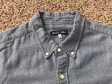 Alex Mill Blue Long Sleeve Button Front Shirt Mens Size Large Soft Cotton