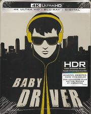 BABY DRIVER 4K ULTRA HD & BLURAY & DIGITAL HD SET with Steelbook Slipcover Case