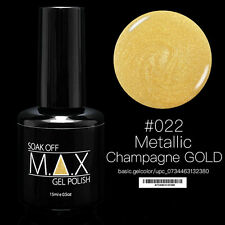 MAX 15ml Soak Off Gel Polonais Nail Art UV LED Couleur # 022 - Champagne Or