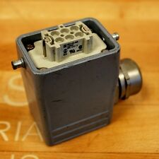 Weidmuller HDC-HE-6BS, 6 Pin Connector. #120020, 500/ 6kV/ 3 - USED