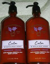 """Bath & Body Works Aromatherapy~Calm~""""Cedarwood & Orange""""~Lotions X2"""