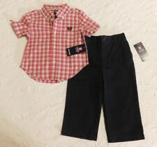 Boys Clothes Size 18 MO 18 Months Chaps Shirts Pants Brand New Retail $54