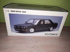 Autoart bmw m535i e28 1985 en negro-metalizado 1:18 incl. caja original rar!!!