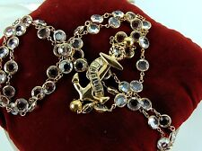 Genuine SWAROVSKI SAL Signed Jewelry Crystal Gold Tone ANCHOR Necklace Vintage