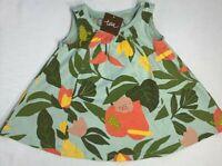 NWT Tea Collection Baby Girls 6-9 Months Green Tropical Garden Trapeze Dress $32