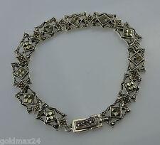 """traumhafte Armkette mit """"Pyrit"""" / 925er Silber / ca. 18,0 cm"""