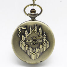 UK HARRY POTTER POCKET WATCH NECKLACE The Marauders Map Hogwarts Jewellery Gift