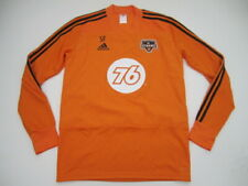 Mens Medium Houston Dynamo Adidas orange long sleeve jersey