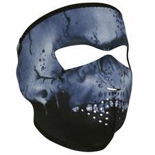 Black Gray Midnight Skull Camo Neoprene Full Face Mask Biker Reversible To Black