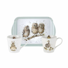 Pimpernel Wrendale 0.18lL Porcelana Tazas & Bandeja de la melamina Juego OWL