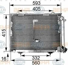 8FC 351 036-014 HELLA Condenser  air conditioning