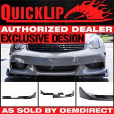 For Type 6 Quick Lip Honda Acura Front Bumper Lip Chin 2PC Splitter EZ 23.5 X 4
