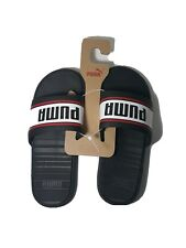 Puma Cool Cat Sport Retro Mens  Casual   Sandals Black White and Red - Size 10
