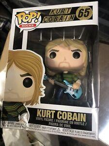 Funko POP Rocks Kurt Cobain w/ Guitar #65 Nirvana Teen Spirit Dent Damage Box
