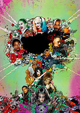 Suicide Squad Poster, DC Movie 2016 Jared Leto Joker, FREE P+P, CHOOSE YOUR SIZE