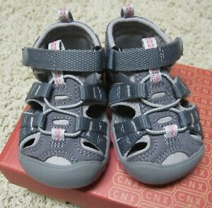 KEEN Seacamp Baby Girls Size 4 US Grey Pink Athletic Sport Fisherman Sandals NEW
