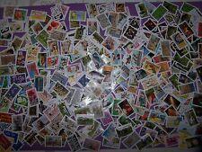 500 différents timbres oblitérés de France entre 2009 et 2019 (exemple scan) (*)