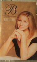 Barbra Streisand The Concert Highlights (cassette, 1995) ships in 24 hours